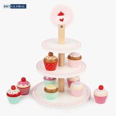 Bộ đồ chơi bánh kem 3 tầng bằng gỗ MSN19035, đồ chơi trẻ em, đò chơi nấu ăn