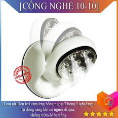 ✅[Loại tốt]Đèn led cảm ứng hồng ngoại 7 bóng LightAngel tự động sáng khi có người đi qua,chống trộm-Màu trắng-Được bán bởi CÔNG NGHỆ 10-10