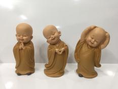 Bộ tượng 3 chú tiểu vui vẻ – Cỡ nhỏ