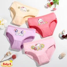 Quần chip cho bé, Quần chip bé gái 2-12 tuổi hình vịt chất thun co giãn thoáng mát nhiều màu sắc Baby-S – SC013