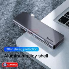 USB Hub Baseus Harmoinica 5 in 1 hỗ trợ sạc PD 60W, USB 3.0 * 2, đọc thẻ nhớ TF, SD cho Laptop, PC, Macbook