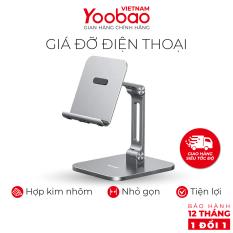 Giá đỡ điện thoại để bàn YOOBAO B3L Hợp kim nhôm siêu bền có thể thay đổi chiều cao – Hàng phân phối chính hãng – Bảo hành 12 tháng 1 đổi 1