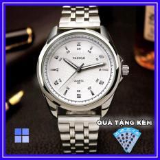 Đồng hồ nam YAZOLE 331 dây kim loại cao cấp Fullbox Ah476 (tặng kèm pin)