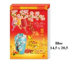LỊCH BLOC 2021 ĐẠI ĐẶC BIỆT 14,5×20,5cm KHÔNG BÌA– Chủ đề GỐM VÀ HOA – LỊCH NGÂN HÀ