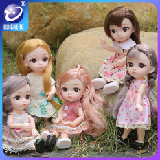 RUICHENG Đồ chơi búp bê barbie mặc đầm đáng yêu, làm quà tặng cho các bé gái – INTL