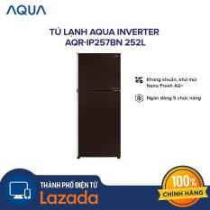 Tủ lạnh AQUA Inverter AQR-IP257BN 252L – Ngăn đông 5 chức năng, tiết kiệm điện năng với công nghệ inverter, công nghệ bạc Ag+ kháng khuẩn – Hàng phân phối chính hãng
