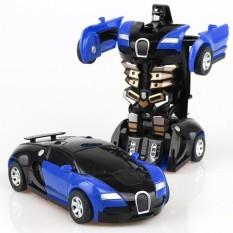 Xe ô tô điều khiển từ xa biến hình robot có sạc và pin (4 loại)