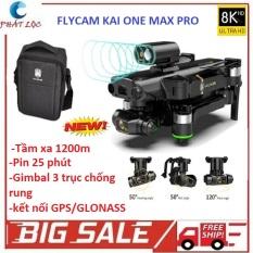 Flycam Kai One Max – Flycam Có Camera 4k – Drone camera 8k, động cơ không chổi than siêu bền bỉ – Máy bay điều khiển từ xa có camera 4k – chất hơn flycam sg906, f11s pro, mavic air, l900 pro, l106 pro