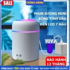 Máy xông tinh dầu, máy phun sương mini, có đèn led 7 màu sạc USB có thể làm đèn ngủ, máy xông tinh dầu phòng ngủ, máy xông tinh dầu trên xe hơi dung tích 300ml– VIVA