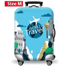 [Lấy mã giảm thêm 30%]Túi bọc bảo vệ vali -Áo vỏ bọc vali – H12 Size S M L HPValiOEM