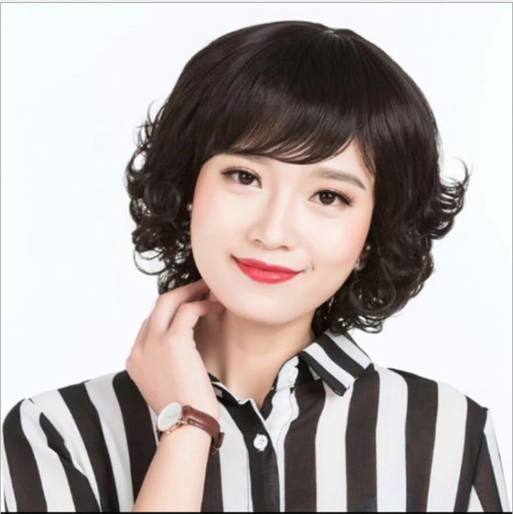 [TẶNG LƯỚI] Tóc giả nữ trung niên nguyên đầu Hàn Quốc cao cấp – TG48