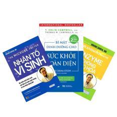 Combo 3 cuốn sức khỏe – Bí mật dinh dưỡng cho sức khỏe toàn diện, Nhân tố vi sinh, Enzyme chống lão hóa
