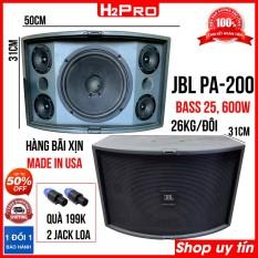 Đôi loa JBL bass 25 PA-200 Model 4635, 600W, 4 treble, 5 đường tiếng, hàng bãi made in USA ( tặng 2 khẩu jack loa )