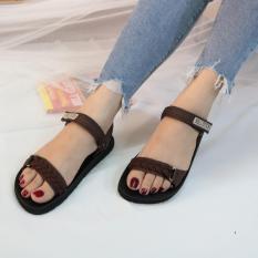 Sandal nữ GIAVY-ST K109 NÂU-sandal học sinh, sinh viên