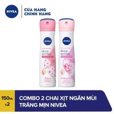 Combo 2 chai xịt ngăn mùi trắng mịn Nivea 150ml