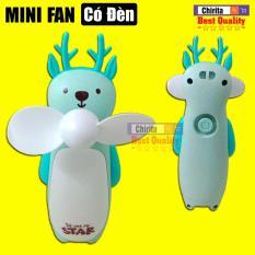 Quạt USB Tích Điện Có Đèn Nhỏ Gọn Tiện Lợi – Quạt Mini Cầm Tay Portable Multifunctional FAN NO.557