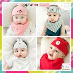 Mũ che thóp cho bé sơ sinh đến 12m bé trai bé gái loại dán Toptutoe an toàn cho bé