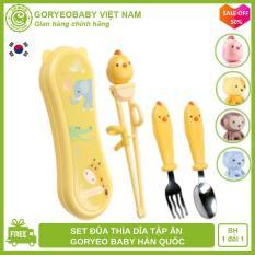 Đũa tập ăn xỏ ngón kèm thìa dĩa cho bé từ 2 tuổi chính hãng GORYEO BABY Hàn Quốc kiểm định an toàn, giúp bé ăn ngon – Goryeobaby Việt Nam – đũa xỏ ngón, thìa muỗng tập ăn