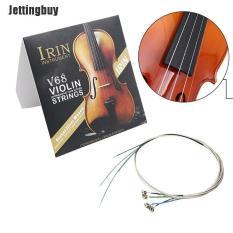 Jettingbuy Bộ Đầy Đủ (E-A-D-G) Chuỗi Đàn Violin Fiddle Chuỗi Lõi Thép Niken-bạc Vết Thương Bạc