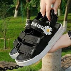 (2 MÀU) Sandal nữ Ulzzang thời trang nữ tính quai chữ ký hoa cúc hót hít 2 màu chuẩn đẹp hàn quốc