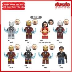 Minifigures MK2, MK3, Dance, MK5, MK4, MK22, MK8, Tony – Đồ chơi Lắp ghép Xếp hình Mini Iron Man Super Hero XINH 0199