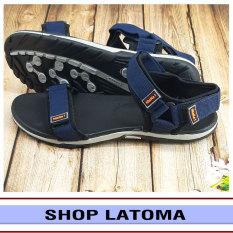 Giày Sandal nam quai dù, giày xăng dan có quai hậu, học sinh sinh viên thể thao mang đều phù hợp vào độc đáo kiểu dáng thời trang cao cấp Latoma TA1381 (Đen)