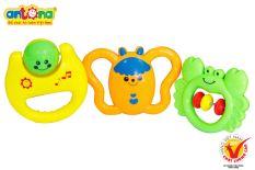 Xúc Xắc Hộp 3 chiếc ANTONA Đồ chơi cho bé Đồ ngặm và tạo âm thanh MonShop