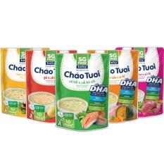 Lốc 54 – Combo 5 Cháo Tươi Baby Sài Gòn Food 240G (Gà, Thịt Bằm, Bò, Lươn, Cá Hồi)