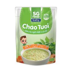 Cháo tươi Baby Sài Gòn Food Tôm & Rau ngót Nhật 240g