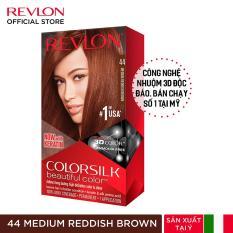 Nhuộm tóc thời trang Revlon Colorsilk 3D – 44 Medium Reddish Brown – Nâu Đỏ Vừa (HSD 6 tháng)