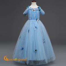 Váy đầm bé gái váy đầm công chúa elsa đính đá GLV045