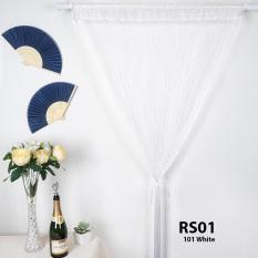 Rèm sợi chỉ trơn màu trắng gạo 3m*3m Rèm sợi chỉ trang trí nhà hàng, shop, spa tiệc cưới