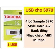 USB mini 4 BỘ Sample cho đàn organ yamaha PSR-S970, Style, nhạc chào, songbook, midi + Full dữ liệu làm show