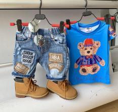 Bộ jean gấu cho bé DB488