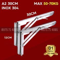 Bản lề gập thông minh inox A2 30cm Bộ 2 chiếc Hàng nhập Tải 50-70kg
