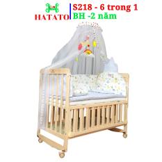 [FreeShip] Nôi cũi cho bé đa năng Hatato S218 – 6 trong 1 [Siêu Sale]