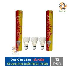 Ống cầu lông Hải Yến 12 quả ( Đỏ Vàng ) sử dụng trong luyện tâp và thi đấu hàng Việt Nam chất lượng cao – LICLAC