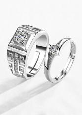 Nhẫn cặp bạc cao cấp – Nhẫn đôi bạc gắn đá – Trang sức bạc Panmila (TS-ND-PAJ041)