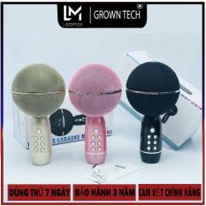 Micro bluetooth karaoke không dây GrownTech Ys-08, mic hát đa năng livestream, thu âm kiêm loa blutooth