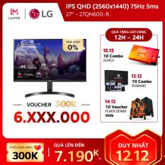 Màn hình máy tính LG IPS QHD (2560×1440) 75Hz 5ms 27 inches l 27QN600-B | HÀNG CHÍNH HÃNG