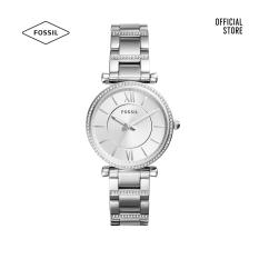 Đồng hồ nữ Fossil CARLIE dây kim loại ES4341- bạc