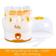 Máy tiệt trùng hơi nước Chính hãng Fatzbaby Hàn Quốc loại 6 bình sữa FB4019SL các mẹ tin dùng