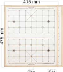 Combo 2 bàn cờ gỗ thông loại thẳng