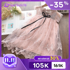 Bear Leader váy công chúa dễ thương thiết kế mới thời trang mùa hè váy ren thêu lưới phong cách giản dị thanh lịch cho bé gái 3-7 tuổi – INTL – Giới hạn 3 sản phẩm/khách hàng