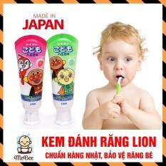 Kem đánh răng Lion Nhật Bản, tái tạo men, tăng cường canxi cho răng bé – Tuýp 40g