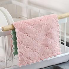 COMBO 10 Khăn lau tay vuông, khăn lau nhà bếp đa năng siêu thấm hút bằng vải mịn, không lo trầy xước các đồ vật