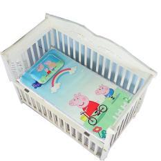 Chiếu lụa điều hòa hoạ tiết 3D cao cấp kèm gối thảo dược cho bé