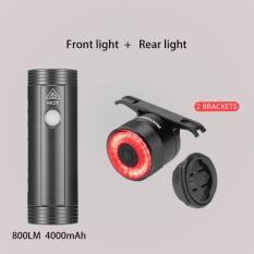ROCKBROS Đèn LED gắn đằng trước xe đạp có cổng sạc USB ánh sáng phát ra 400LM dung lượng pin 2000mAh có khả năng chống nước, phụ kiện xe đạp – INTL