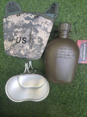 Bộ bình nước bình bi đông lính bình bi tông quân đội đựng rượu đựng nước kèm cốc ca nhôm màu mulitcam và ACU