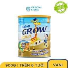 Sữa bột Abbott Grow Gold 6+ hương vani 900g